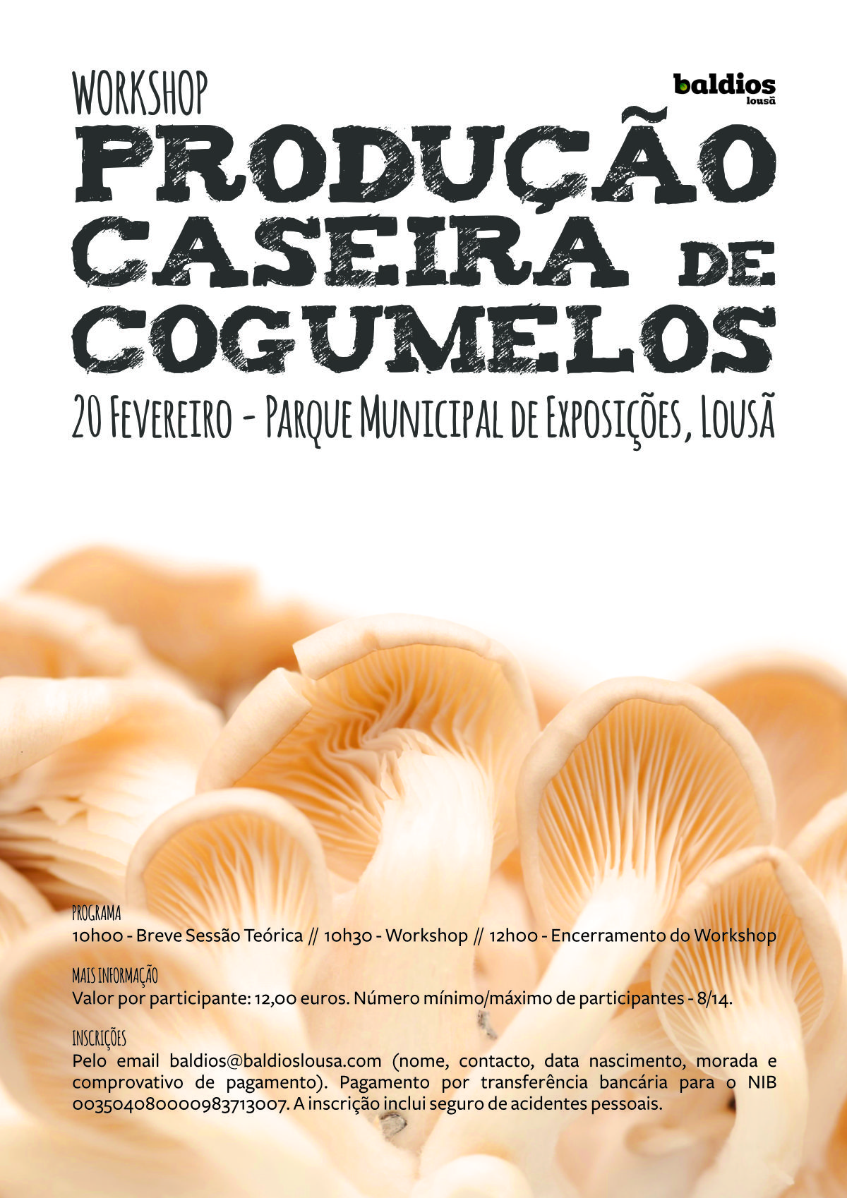 Workshop Produção caseira de cogumelos