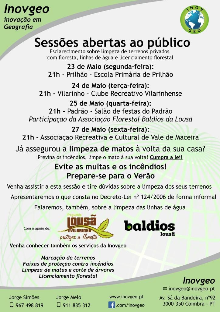 Cartaz Lousã e Vilarinho + Baldios